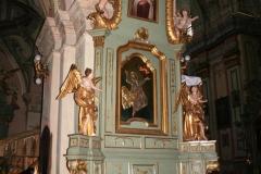Ołtarz św. Wincentego przed renowacją.