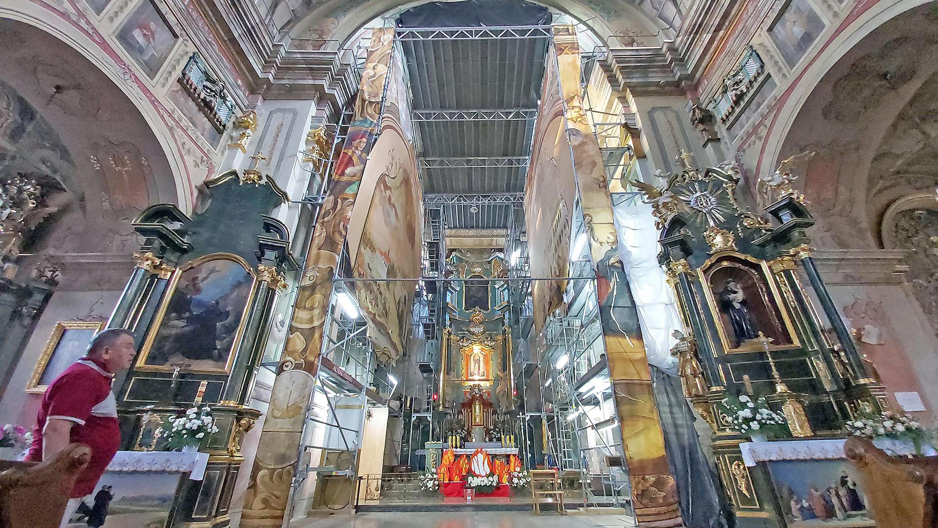 Prace Remontowe w Kościele Franciszkanów 2021