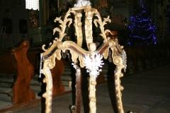 Feretron wraz z relikwiami św. Wincentego przed renowacją.