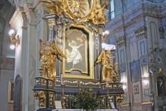 Ołtarz św. Wincentego po renowacji – rok 2017.